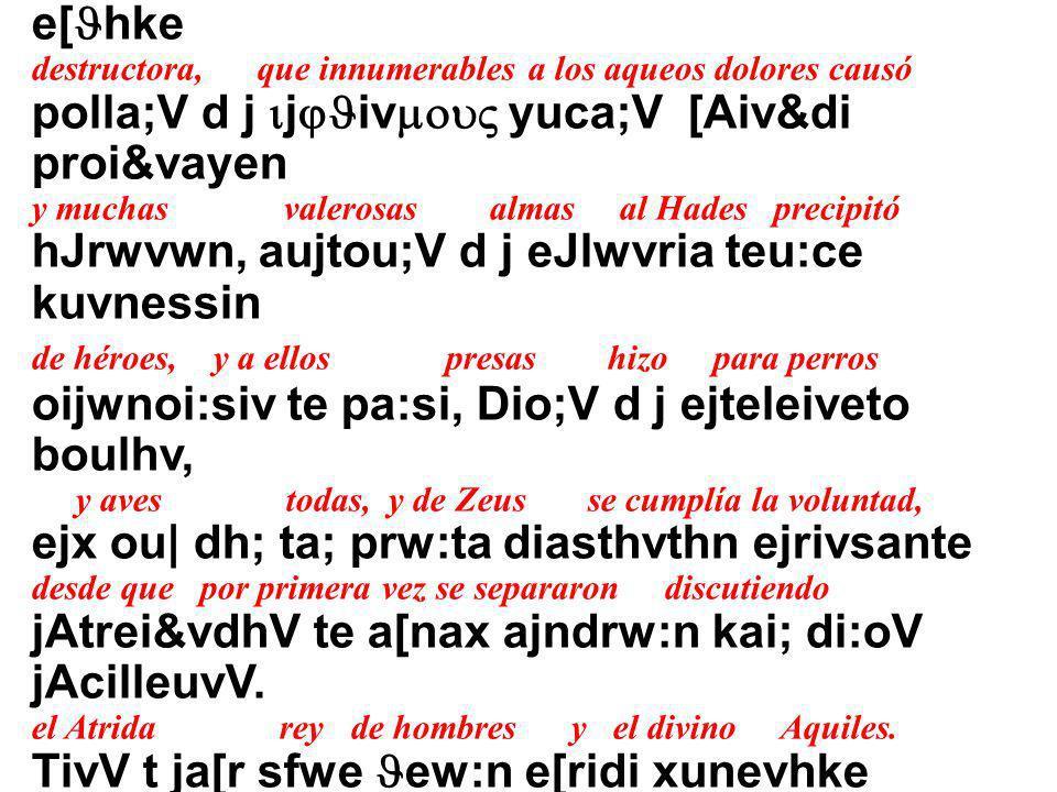 Mh:nin a[eide, Jeav, Phlhi&avdew jAcilh:oV